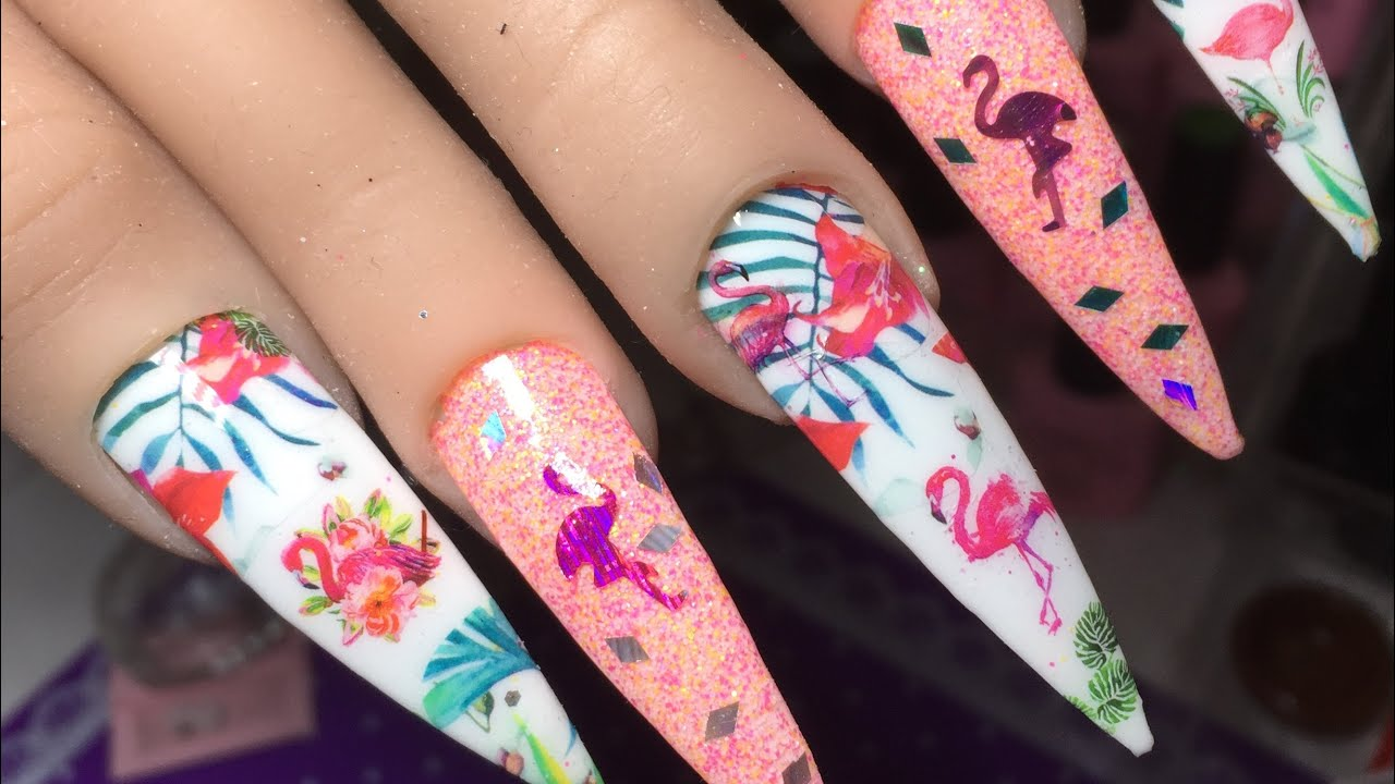 How To Do Nail Art With Water Decals Nails On A Budget Easy Nail Art Ideas Glitter Application Youtube