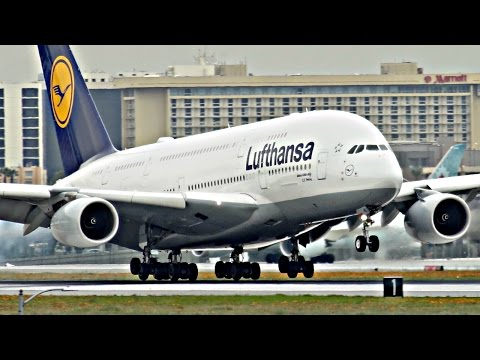 HEAVY LANDINGS | PLANE SPOTTING at Los Angeles Int. Airport (LAX) | 2017 | ✈