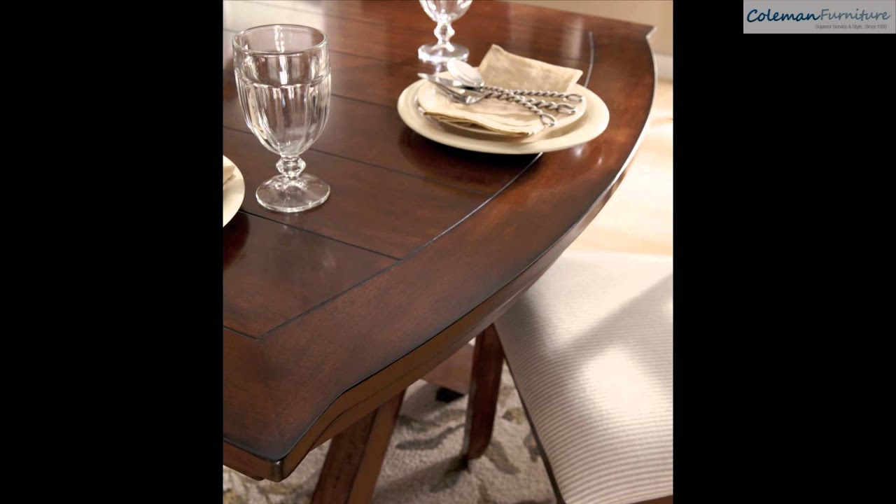 Burkesville Rectangular Trestle Dining Room Collection From Signature Design By Ashley Youtube