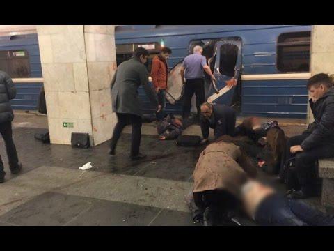 Теракт в метро Санкт-Петербурга - Видео с места происшествия, десятки погибших и много раненых