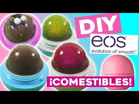 EOS comestibles DIY * Cómo hacer 5 RECETAS dulces en tus labiales