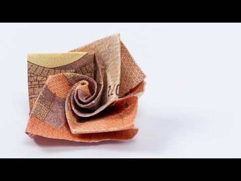 Blume Aus Geld Falten 🌸 Geldgeschenk Idee
