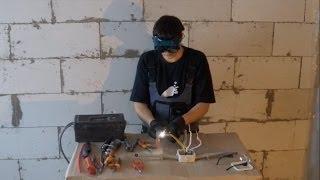 Надежное соединение проводов в распредкоробке- скрутка со сваркой.(Как правильно и главное надежно соединить провода в распредкоробке? Об этом вы подробно можете увидеть..., 2014-05-02T13:42:27.000Z)