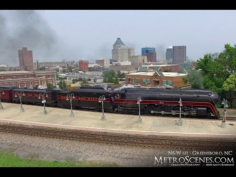 NW 611 Locomotive from downtown Greensboro NC to Reidsville - 7/1/2015