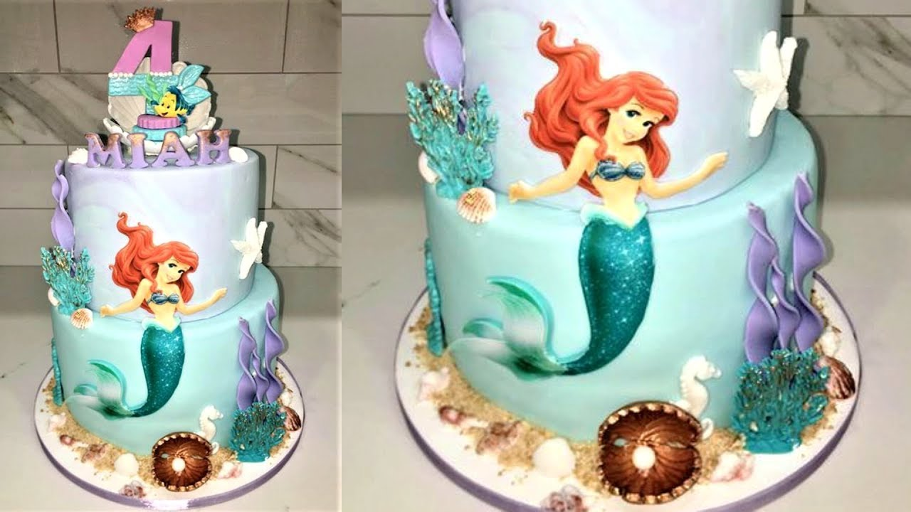 Cake Decorating Tutorials How To Make A Little Mermaid Cake Sugarella Sweets Youtube