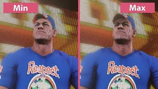 WWE 2K18 – PC Min vs. Max 4K Graphics Comparison