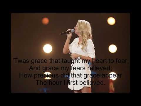 Chloe Paige - Amazing grace  Lyrics On UK GOT TALENT Lyrics 2015