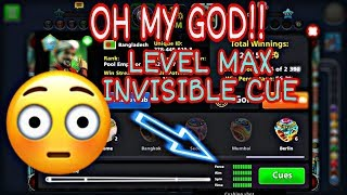 || 8 ball pool || | OH MY GOD 😱 ! | Level max invisible cue | #kinggamers1