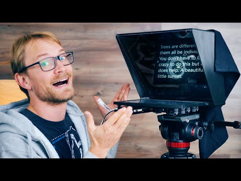 I couldn't make videos without this: My 3D Printed Teleprompter!