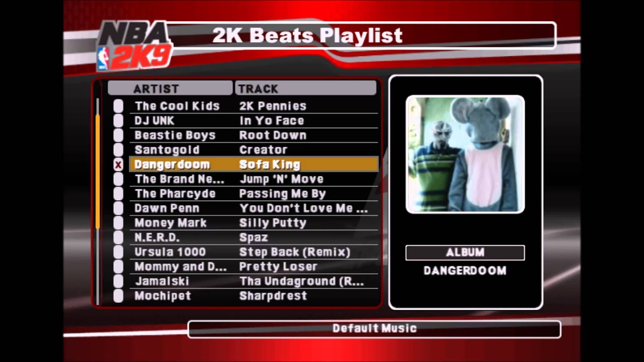 Dangerdoom Sofa King NBA 2K9 Edition