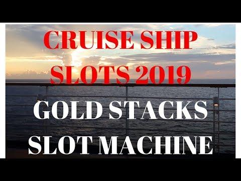 CARNIVAL HORIZON CRUISE SHIP SLOTS.  GOLD STACKS MAX BET. FULL SCREENS AND HUGE WINS. PART 1 2019.