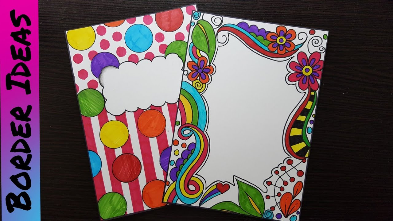Front page Design for School Project   DIY Notebook ...