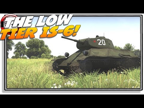 The low tier IS-6 - T-50! (War Thunder Gameplay)