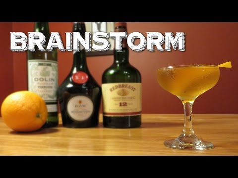 Brainstorm - a Vintage Cocktail with Irish Whiskey, Benedictine & Dry Vermouth