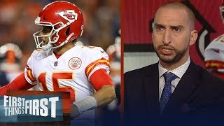 Nick and Cris react to Patrick Mahomes, Chiefs MNF comeback win | NFL | FIRST THINGS FIRST