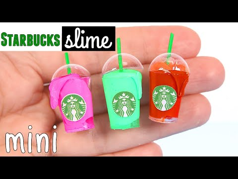 Thumbnail: DIY Miniature Starbucks Slime & Miniature Slime Supplies