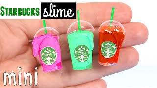 DIY Miniature Starbucks Slime & Miniature Slime Supplies