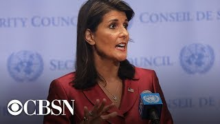 Nikki Haley resigns today, full announcement with President Trump