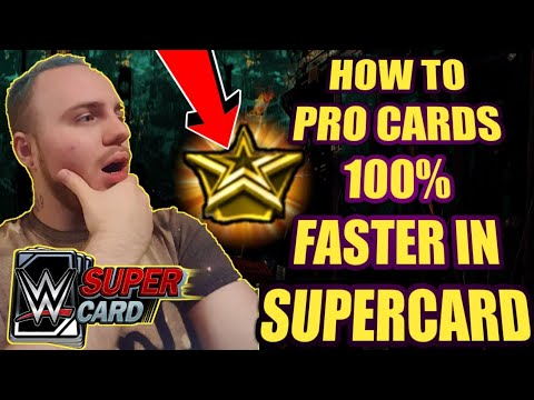 HOW TO PRO CARDS 100% FASTER WITHIN WWE Supercard Season 4! Supercard Tips and Tricks! Noology!