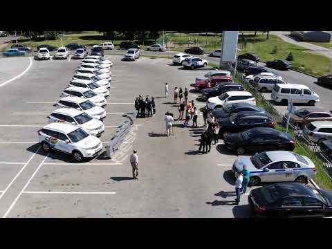 Орловская. Выдача автомобилей дирекции II Европейских игр