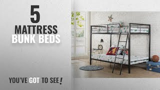 Top 10 Mattress Bunk Beds [2018]: Zinus Easy Assembly Quick Lock Twin over Twin Metal Bunk Bed / https://clipadvise.com/deal/