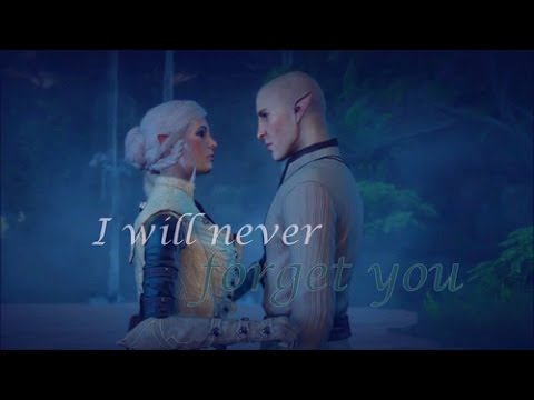 [ DA:I ] Solas / Lavellan 'I will never forget you' { for my friend geekyvallaslin