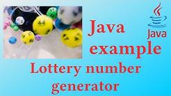 Lottery number generator - Java Example