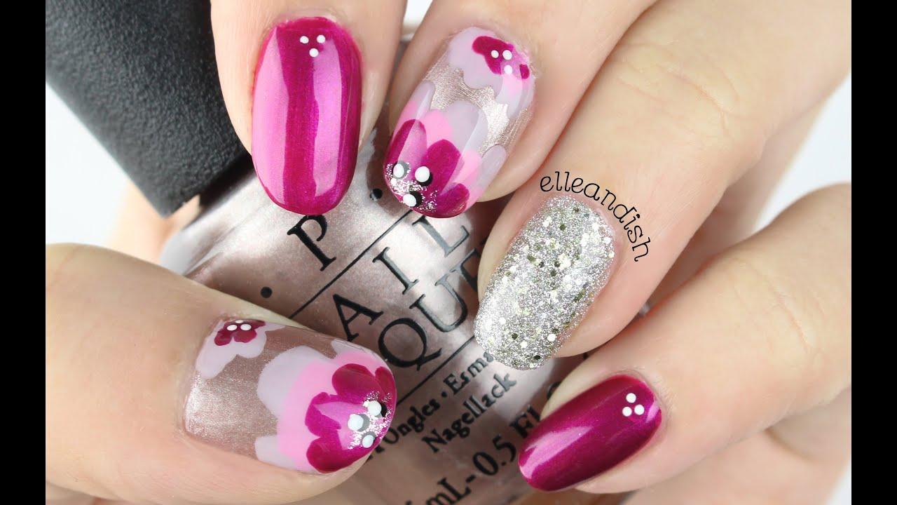 ✘ No Nail Tools! Layered Floral Nails ✘ - YouTube