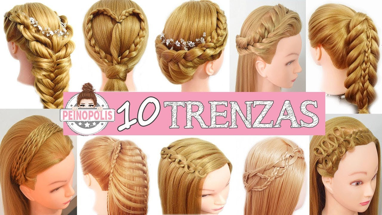 10 Peinados Faciles Y Rapidos Para Este 2018 Con Trenzas Para Ninas