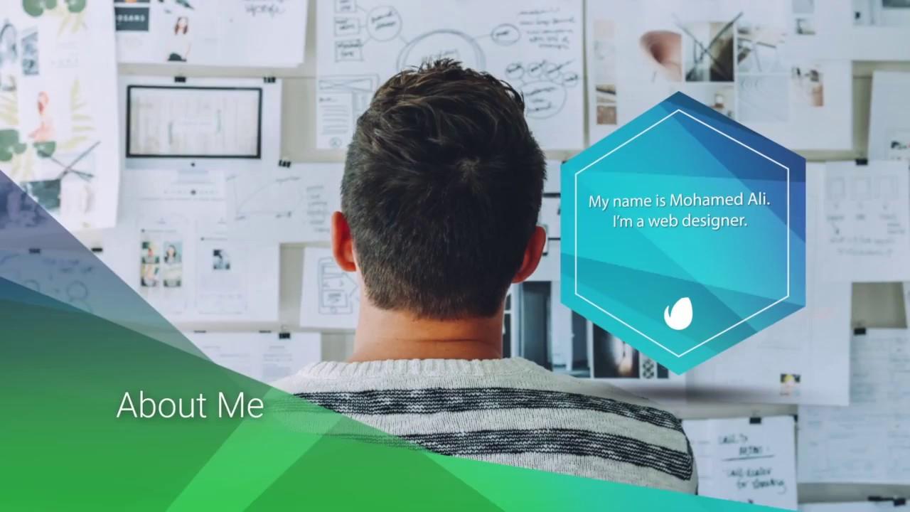 Mohamed Ali Video Cv Resume Web Designer Youtube