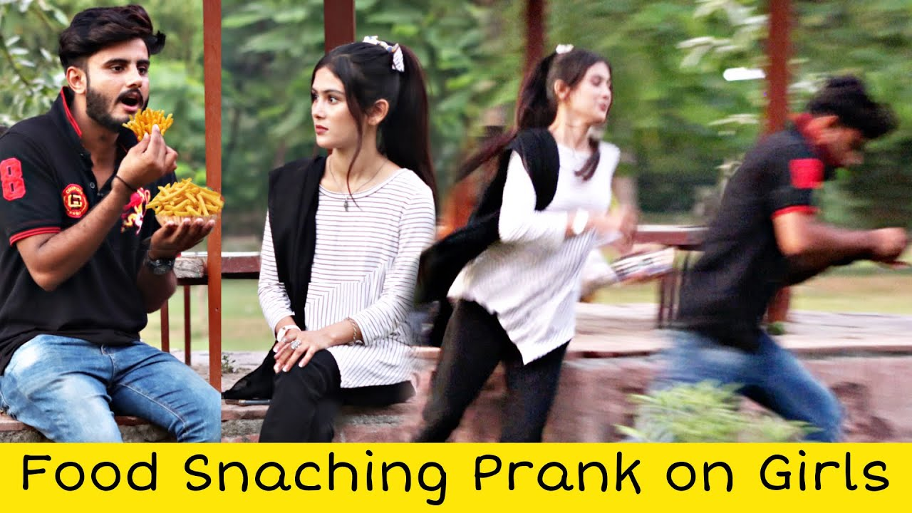 Food Snatching Prank On Cute Girls Prank @That Was Crazy