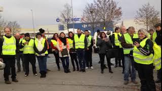 Manif gilets jaunes dans les Yvelines à Rambouillet