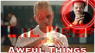 MY FIRST Lil  PEEP SONG! RIP! Lil Peep - Awful things - REACTION