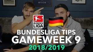 Bundesliga Tips - Gameweek 9 - 2018/2019