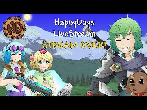 Terraria HappyDays LIVESTREAM - Expert Worldbuilder Let's Play