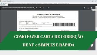 Carta de Correção de Nota Fiscal Eletronica || UP KEY Software