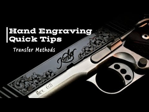 Engraving Quick Tips - Transfers