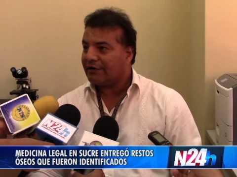 MEDICINA LEGAL EN SUCRE ENTREGÓ RESTOS ÓSEOS IDENTIFICADOS  - Abril 9 de 2014