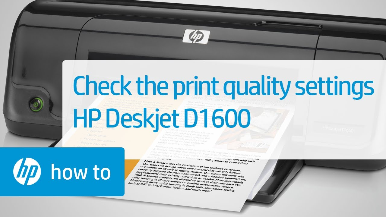 check the print quality settings to resolve print quality issues