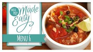 Meal Prep Made Easy | Menu 6