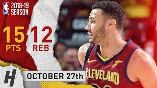 Larry Nance Jr. Full Highlights Cavaliers vs Pacers 2018.10.27 - 15 Pts, 12 Reb