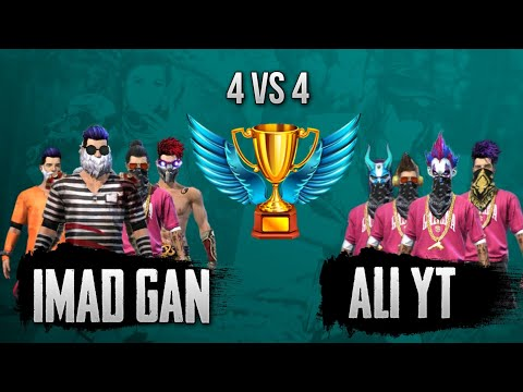Imad Gan Vs Ali Yt || Free Fire 4 Vs 4 Most Intense Match Ever 😱 || Nonstop Gaming