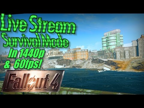 Fallout 4 Survival Mode in 1440p/60fps! The Slog Settlement and Cambridge Polymer Labs