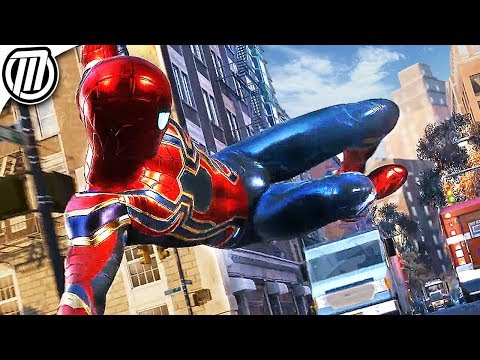 Spider-Man PS4: IRON SPIDER Suit! + All...