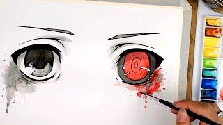 Desenho acelerado olhos de ghoul   Tokyo Ghoul
