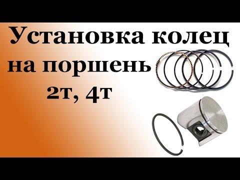 СВОИМИ РУАМИ: Установка колец на поршень 2Т, 4Т