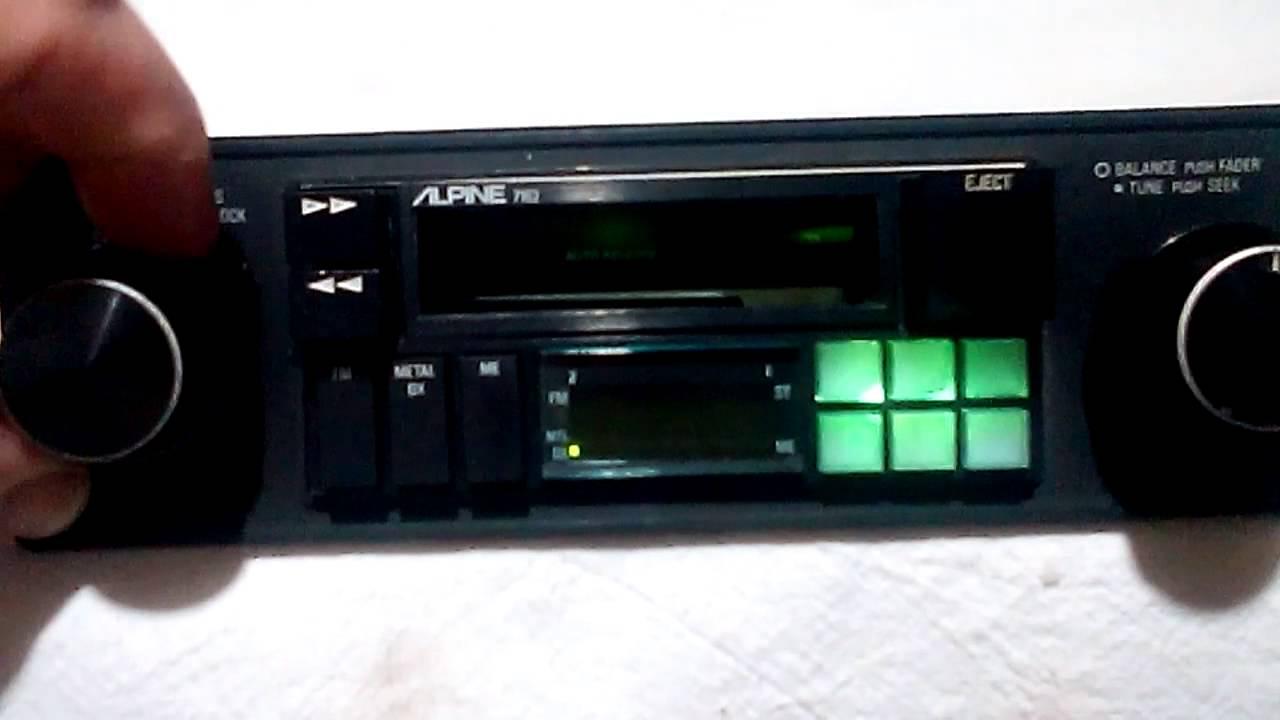 [GJFJ_338]  Vintage Alpine 7162 am/fm cassette car stereo - YouTube | Alpine 7163 Wiring Harness |  | YouTube