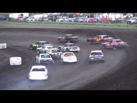 IMCA Stock Car feature Benton County Speedway 8/6/17