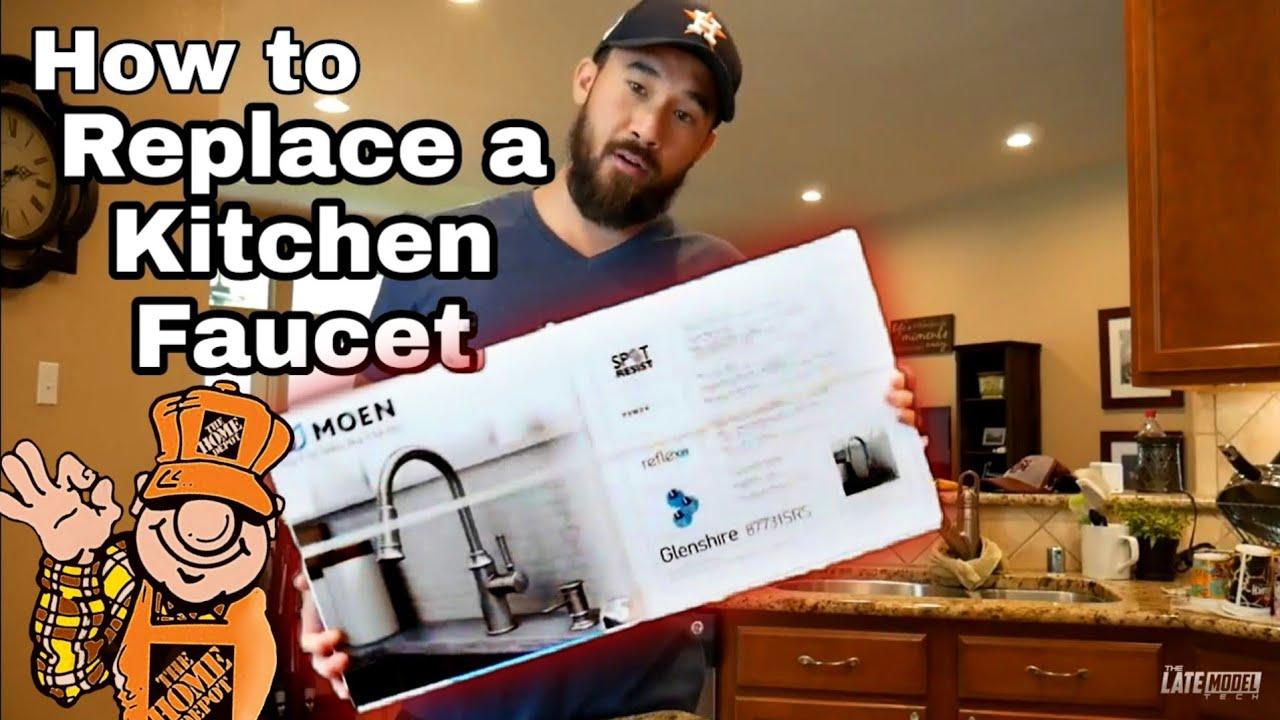 replace kitchen faucet pex