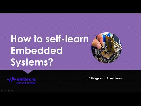 13 Points To Do To Self Learn Embedded Systems